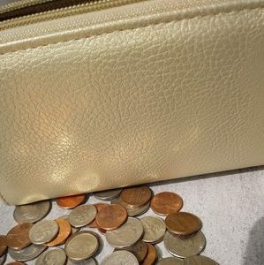 Gold tone wallet